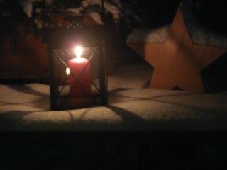 1. Advent - Advent, 1 Advent, Kerze, Licht, Laterne, Stern, Schnee, leuchten, Glanz, Schatten
