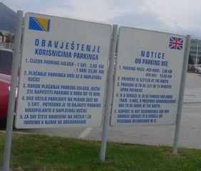 Parkplatzschild - Hinweisschild, serbisch, bosnisch