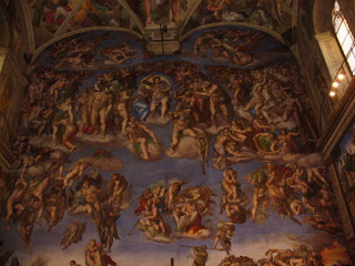 Sixtinische Kapelle in Rom - Das jüngste Gericht, Michelangelo, Deckengemälde, Kunst, Sixtinische Kapelle