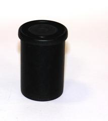 Filmdose - Filmdose, Plastikdose, Zylinder, Dose, Behälter, schwarz, Verpackung, Schutzhülle, Kunststoff