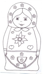 Matrjoschka - Matrjoschka, Souvenir, Holzpuppe, Russland, russisch, Spielzeug, Babuschka, Steckpuppe