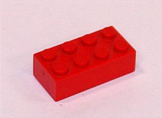 Legostein - Legostein, Lego, Bauklotz, rot, 8, acht, Quader, Baustein
