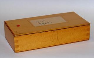 Holzschachtel - Holzschachtel, Holzkiste, Quader, Behälter, Holzverbindung, Zinken, Deckel