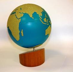 Globus - Montessoriglobus, Globus, Kugel, Erdball, Erdkugel, Erde, Weltkugel, rund