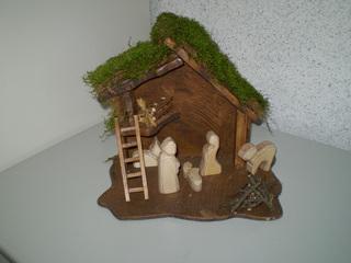 Krippe - Weihnachten, Werken, Holz, Naturmaterial, Krippe, Weihnachtskrippe, Geburt Christi, Handwerk, Kunsthandwerk, Weihnachtsgeschichte, Jesus, Maria, Josef