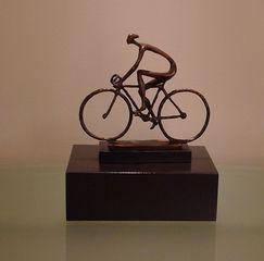 Radfahrer - Rad, Radfahrer, moderne Kunst, Plastik, Fahrradfahrer, Fortbewegung, Sportart