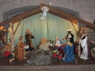Krippe - Krippe, Weihnachten, Geburt Christi, Holz, Holzschnitzerei, Handwerk, Kunsthandwerk, Weihnachtsgeschichte, Jesus, Maria, Josef