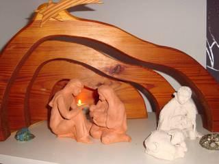 Maria und Josef mit dem Neugeborenen - Maria, Josef, Jesus, Weihnachten, Heiligabend, Geburt, Familie, Schaf, Hirte, Krippe
