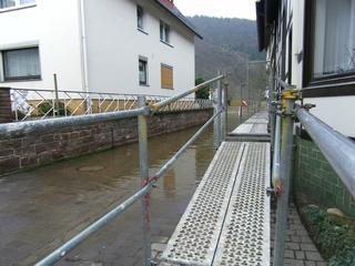 Hochwasser5 - Hochwasser, Weser, Überschwemmung, Steg, Bodenwerder