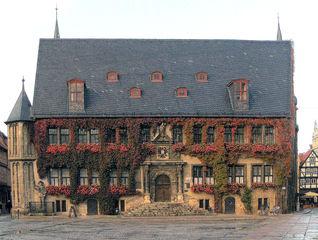 Quedlinburg Rathaus - Quedlinburg, Rathaus, Renaissance, Markt, Marktplatz, Denkmal, Denkmalschutz, UNESCO, Weltkulturerbe