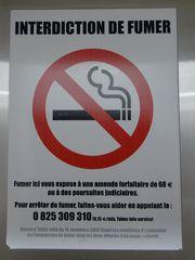 Hinweisschild Rauchverbot - fumer, interdiction, Rauchverbot