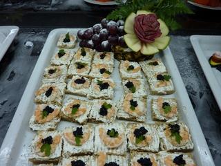 Vorspeise Garnelen - Vorspeise, Kräcker, Vollkorn, Käsecreme, Garnelen, Kaviar