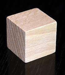 Bauklotz - Bauklotz, Würfel, Holz, Körper