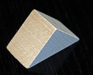 Bauklotz - Bauklotz, Dreieck Säule, Dreiecksäule, Körper, Holzspielzeug