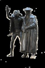 Vor Auerbachs Keller # 2 - Johann Wolfgang Goethe, Faust, Doktor Faustus, Heinrich, Gelehrter, Mephistopheles, Mephisto, Teufel, Teufelspakt, Pakt, Margarete, Gretchen, Tragödie, Theater, Figur, Bronze, Statue, Auerbachs Keller, Leipzig, Sachsen