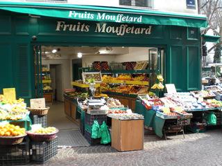 Fruits Mouffetard - Frankreich, Paris, Rue Mouffetard, Geschäfte, Obst, fruits, magasins