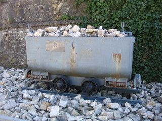 Güterlore - Güterlore, Lore, Kipplore, Transportwagen, Schüttgut, Trümmerbahn