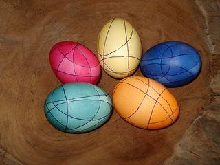 Butzen-Eier - Ostern, Ei, Eier, färben, Farbe, Butzen, Überlagerung, bunt, Schmuck, Linie