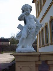 Schloss Veitshöchheim, Balustrade mit Putten - Schloss, Veitshöchheim, Sommerresidenz, Fürstbischöfe von Würzburg, Balustrade, Putten, Amor, Skulptur