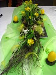 Tischdeko Frühling#2 - Blüten, Tischdecke, festlich, Organza, Osterglocken