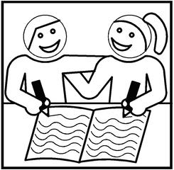 Piktogramm Partnerarbeit PS - Piktogramm, Partnerarbeit, Grafik, Sozialform