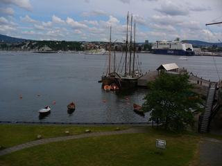 Hafen - Hafen, Oslo, Color Line, Kreuzfahrtschiff, Segelschiff, Schiff, Wasser, Meer, Wolken, Urlaub