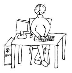 Herr Ticktack - Computer, arbeiten, Email schreiben, chatten