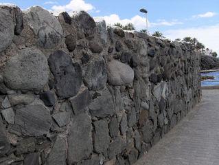 Typische Mauern auf den Kanarischen Inseln #1 - Mauer, Mauern, Mauerbau, Steine, Felsen, Steine, Mörtel, Trockenmauer, Kanarische Inseln, Schiefer