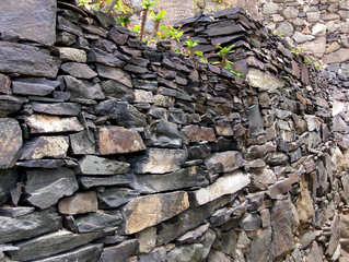Typische Mauern auf den Kanarischen Inseln #4 - Mauer, Mauern, Mauerbau, Steine, Felsen, Mörtel, Trockenmauer, Kanarische Inseln, Schiefer, Trennwand