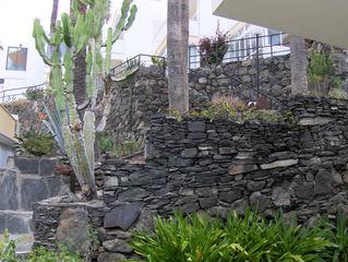 Typische Mauern auf den Kanarischen Inseln #7 - Mauer, Mauern, Mauerbau, Steine, Felsen, Mörtel, Trockenmauer, Kanarische Inseln, Schiefer, trennen, Befestigung