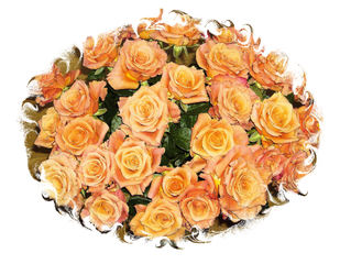 Ein Rosenstrauß - Rose, Effektbild, Blume, Blüte, Muttertag, Geburtstag