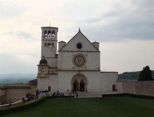 Basilika San Francesco in Assisi - Oberkirche - Assisi, Italien, Kirche, Heiliger Franziskus, Basilika, Pilger, romanisch, gotisch, Architektur