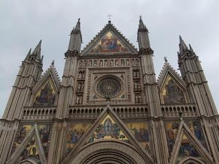 Dom von Orvieto #2 - Dom, Orvieto, Umbrien, Italien, Kirche, Architektur, Detail, Fassade