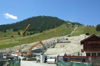Seilbahnbau - Sport, Skisport, Sessellift, Umwelt, Natur, Eingriff in die Natur, Bergsport, Wintersport
