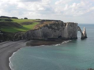 Klippen von Etretat - Klippen, Falaises, Etretat, Normandie, Küste, Frankreich