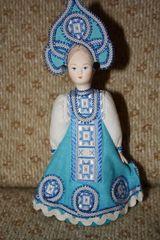 russische Trachtenpuppe #1 - Russland, Souvenir, Figur, Kunsthandwerk, Nationaltracht, Brauchtum, Traditionen, Kleidung