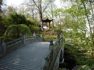 Chin. Garten Brücke - Garten, Gartenlandschaft, Chinesischer Garten, China, Brücke, Architektur, Tempel, Weg, Meditation