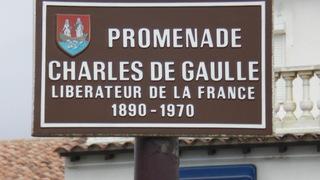 Promenade Charles de Gaulle - Frankreich, Camargue, promenade, Straße, Charles de Gaulle, les Saintes-Maries-de-la-Mer, Straßenschild