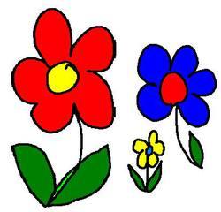 bunte Streublumen - bunt, Blumen, Zeichnung, clipart