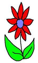 Streublume rot - Blume, clipart, rot