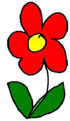 Streublume rot - Blume, rot, clipart