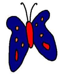 Schmetterling blau - Schmetterling, blau, clipart