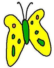 Schmetterling gelb - Schmetterling, gelb, clipart