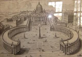 Vatikan - Vatikan, Rom, Petersdom, Papst, Italien, Kirche, Obelisk, Stich, katholische Kirche, Stich