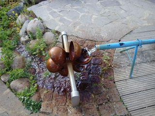 Wasserrad - Wasser, Wasserrad, schöpfen, Schöpfrad, oberschlächtig, Rotation, Wasserkraft, Physik, Energie