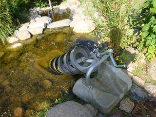Spirale zum Schöpfen - Spirale, Wasser, schöpfen, Wasserversorgung, Schneckenpumpe, Archimedische Schraube, Archimedesschraube, Förderschnecke, Förderanlage, Bewässerung, Physik