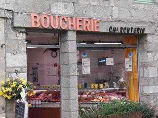 Boucherie Charcuterie - Frankreich, civilisation, magasin, Geschäft, boucherie, charcuterie, Metzger, Fleischer