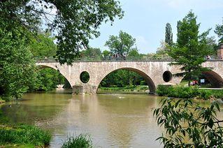 Sternbrücke # 1 - Sternbrücke, Schlossbrücke, Weimar, Ilm, Fluss, überbrücken, Wasser, fließen, Bogenbrücke, Brücke