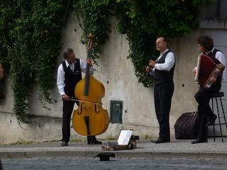 Prager Musiker - Musik, Prag, Kultur, Straßenmusik, Kontrabass, Klarinette, Akkordeon