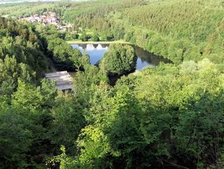 Granetalsperre #5 - Talsperre, Granetalsperre, Stausee, Staumauer, Wasser, Reservoir, Trinkwasser, Harz